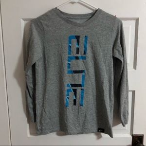 "Nike Longsleeve Tee Gray ""Elite"" Dri-Fit Boys YLG"